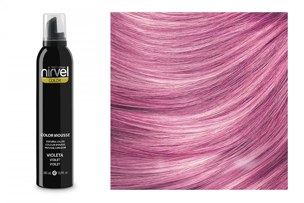 Hair cosmetics : (Nirvel) Color Mousse - Violet (300 ml) NIRVEL